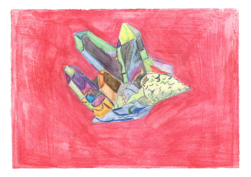 Arkansas Quartz Crystal, Titanium
