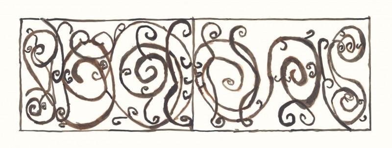 Panel – Ironwork, date 1650 – 1700