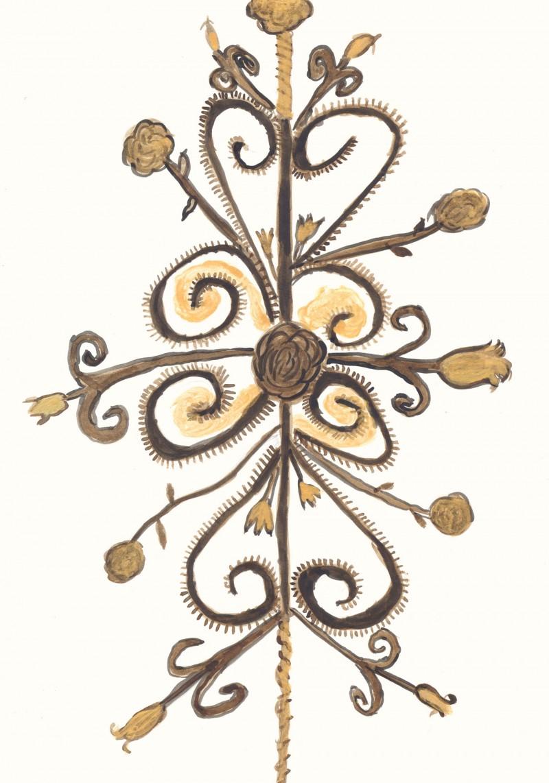 Chandelier Suspension Rod – Ironwork, date 1650 – 1700
