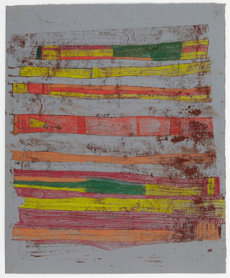 Monoprint Stripes