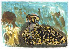 Uduehi Imienwanrin, Cheetah Sitting, 2016