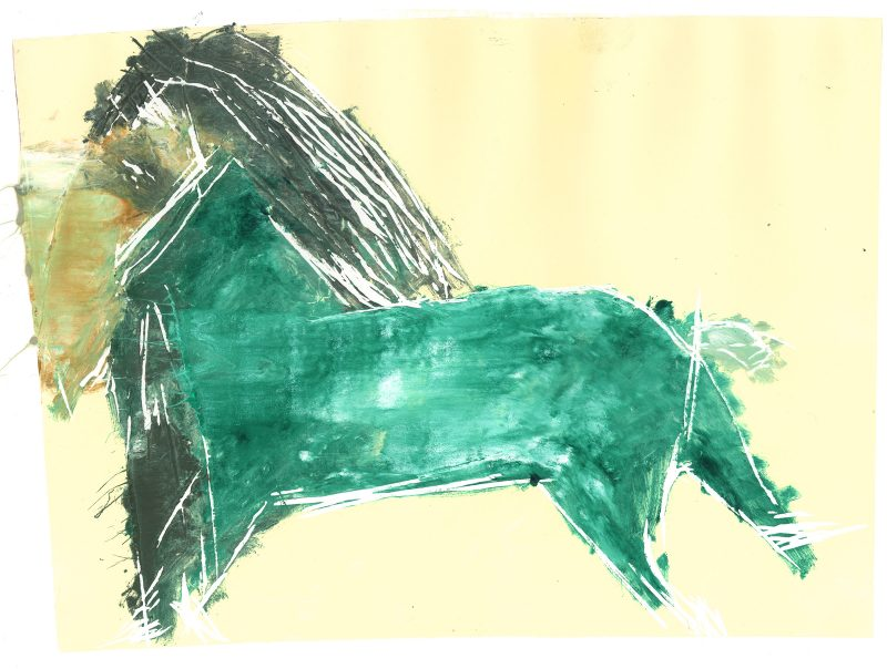 Green Horse on Lemon