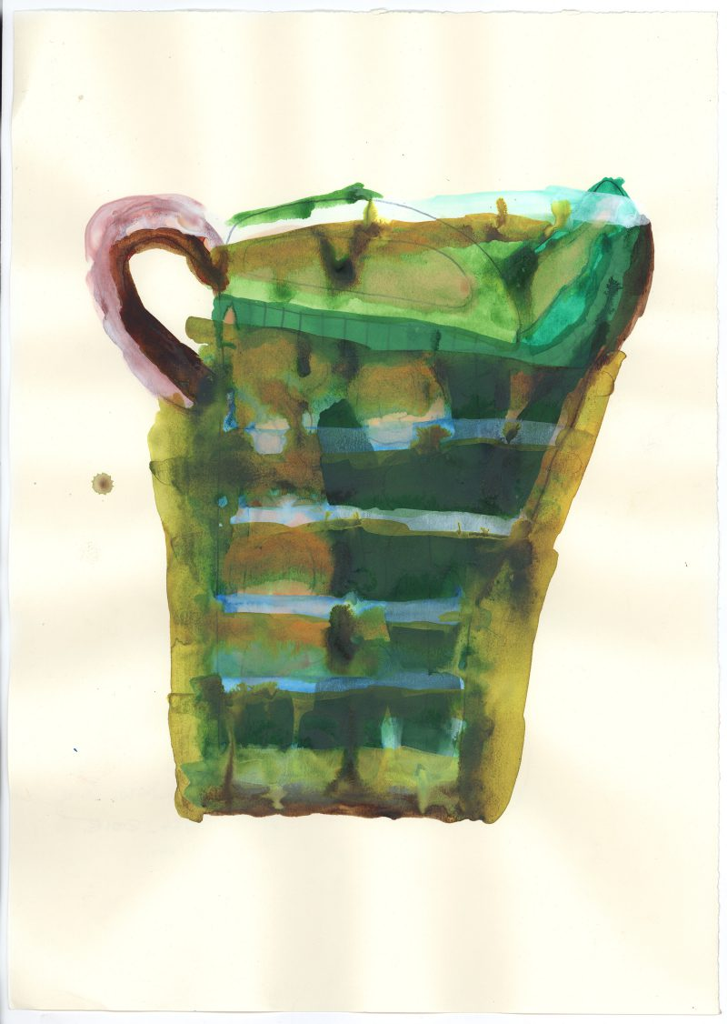 Green and White Jug