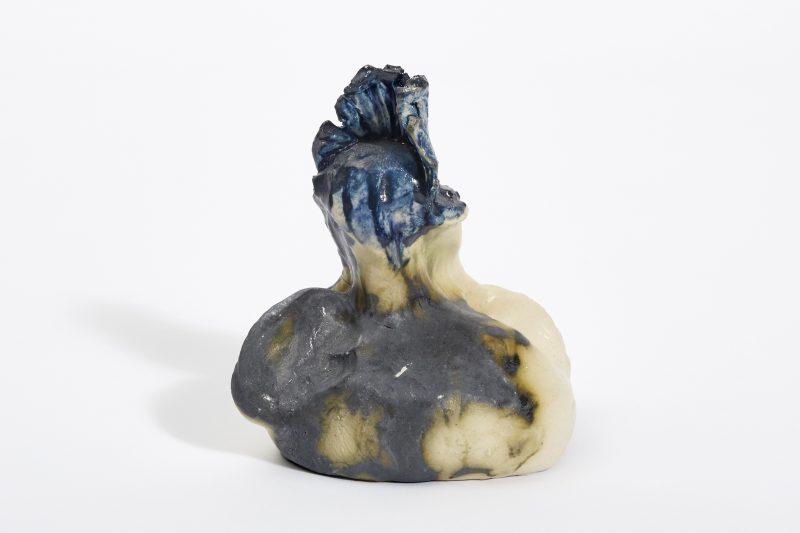 Blue-crowned Figurine